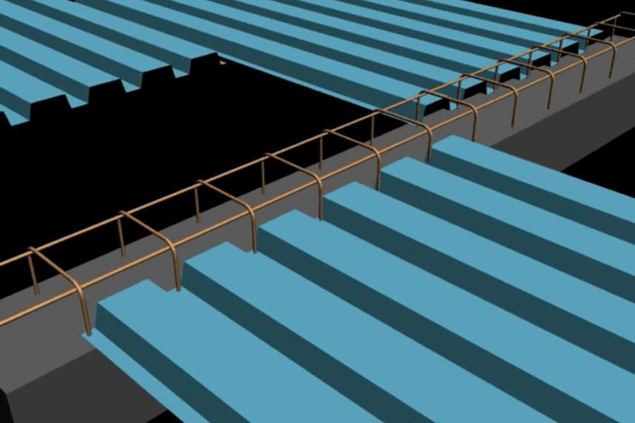 اجرای سقف عرشه فولادی در سازه بتنی