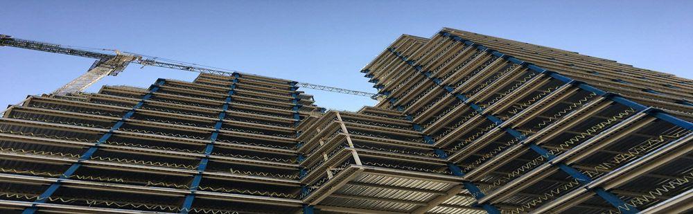 مراحل اجرای سقف با عرشه فولادی
