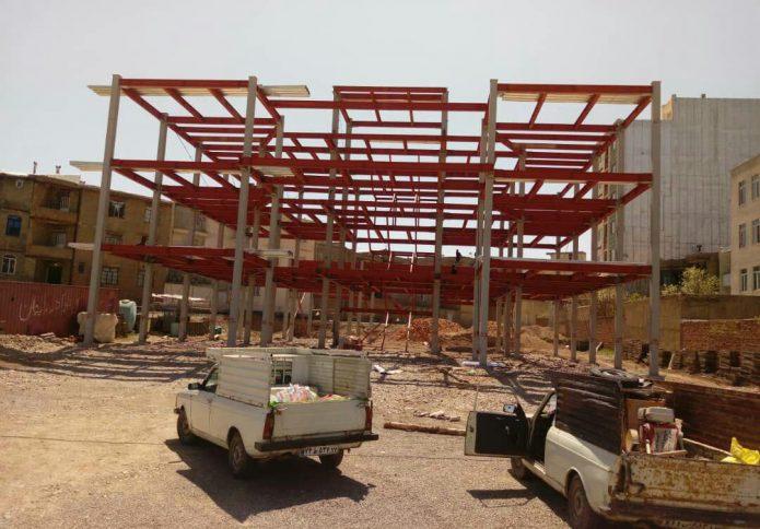 پروژه عرشه فولادی دانشگاه ارومیه