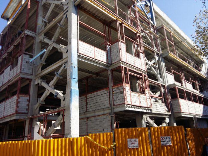 پروژه عرشه فولادی بیمارستان الزهرا